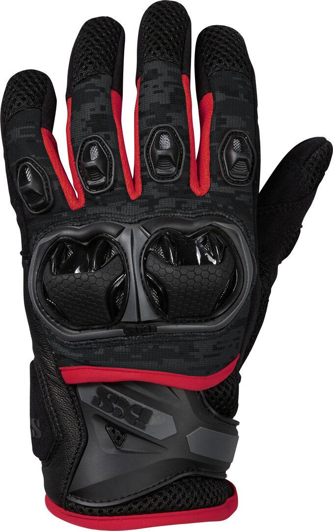 IXS LT Montevideo Air S Motocross Gloves  Black Grey Red Size: