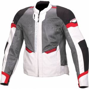 Macna Event Textile Jacket Grey White Red XS