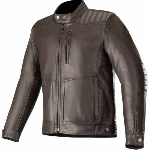 Alpinestars Crazy Eight Motorcycle Leather Jacket Brown 3XL