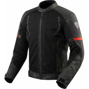 Revit Torque Motorcycle Textile Jacket  - Black Green - Size: S