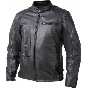 Helite Roadster Airbag Motorcycle Leather Jacket  - Black - Size: L
