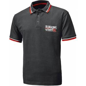 Held Bikers Polo Shirt  - Black Red - Size: M