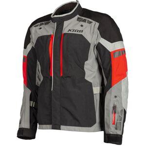 Klim Latitude Red Motorcycle Textile Jacket  - Black Red - Size: 54