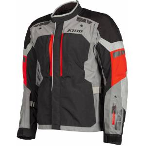 Klim Latitude Red Motorcycle Textile Jacket  - Black Red - Size: 48