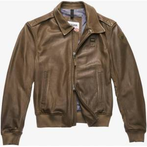 Blauer USA Smith Leather Jacket unisex Black Size: M