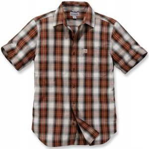 Carhartt Essential Short Sleeve Shirt  - White Red - Size: S