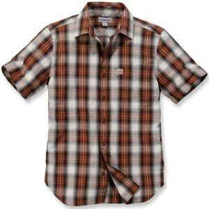 Carhartt Essential Short Sleeve Shirt  - White Red - Size: M