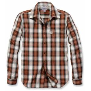 Carhartt Essential Shirt  - White Red - Size: L