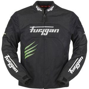 Furygan Rock Vented Motorcycle Textile Jacket  - Black Green - Size: S