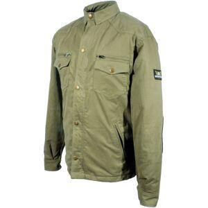 Bores Military Jack Olive Motorcycle Shirt unisex Black Grey Size: XL