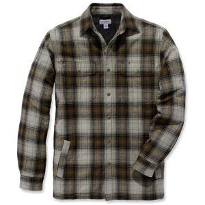 Carhartt Hubbard Sherpa Lined Hemd  - Green - Size: S