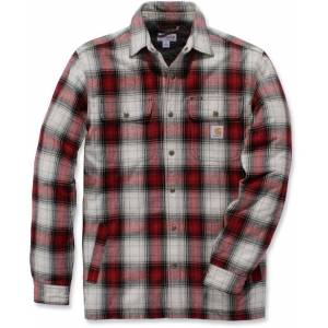 Carhartt Hubbard Sherpa Lined Hemd  - Red - Size: L