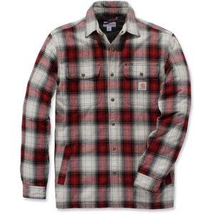 Carhartt Hubbard Sherpa Lined Hemd  - Red - Size: M