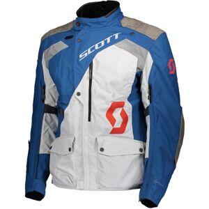 Scott Dualraid Dryo Motorcycle Textile Jacket  - Grey Blue - Size: L