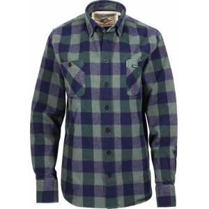 Rokker Richmond Flannel Shirt  - Green Blue - Size: S