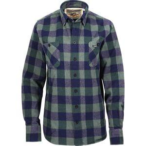Rokker Richmond Flannel Shirt  - Green Blue - Size: L