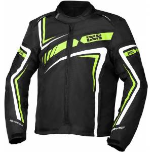 IXS Sport RS-400-ST 2.0 Motorcycle Textile Jacket  - Black White Green - Size: S