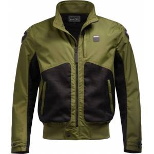 Blauer Thor Air perforated Motorcycle Textile Jacket  - Black Green - Size: S