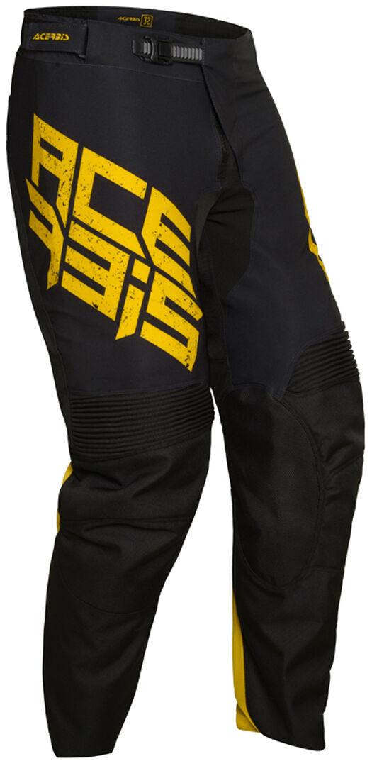 Acerbis LTD Caspian Motocross Pants Black Yellow 34
