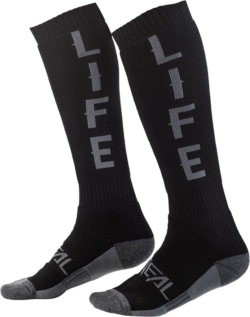 Oneal Pro Ride Life Motocross Socks Black Grey One Size