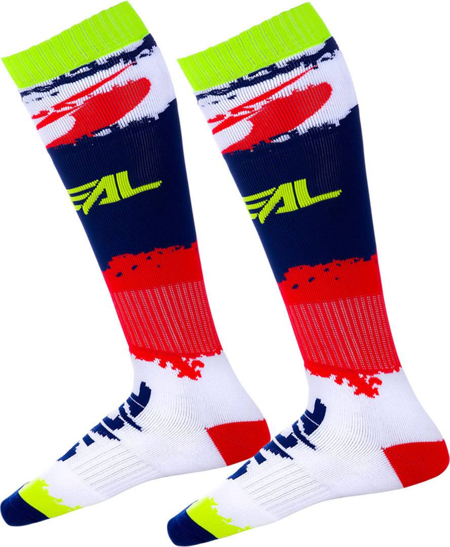 Oneal Pro Revit Motocross Socks Red Blue One Size