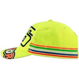 VR46 Stripes Cap Kids Cap  - Yellow - Size: One Size