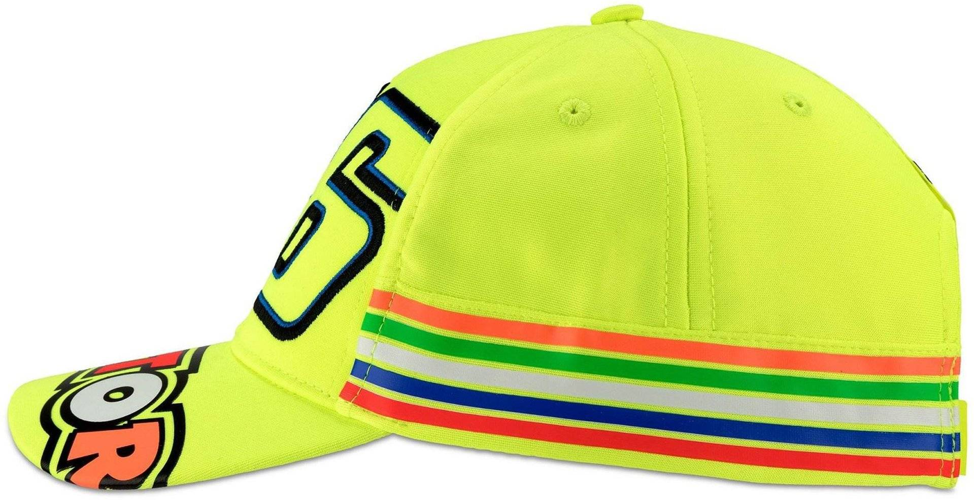 VR46 Stripes Cap Kids Cap  - Yellow - Size: One Size