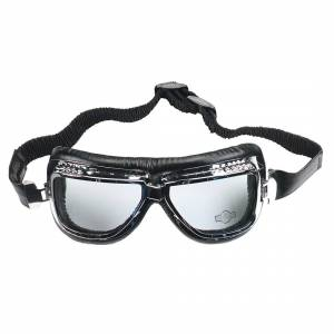 Booster Flying Tiger Motorcycle Goggles  - Silver - Size: One Size