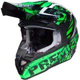 Premier Exige ZX7 Motocross Helmet  - Black Green - Size: M