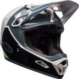 Bell Transfer-9 Downhill Helmet  - Black White Green - Size: S