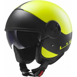 LS2 OFF597 Cabrio Via Jet Helmet  - Yellow - Size: M