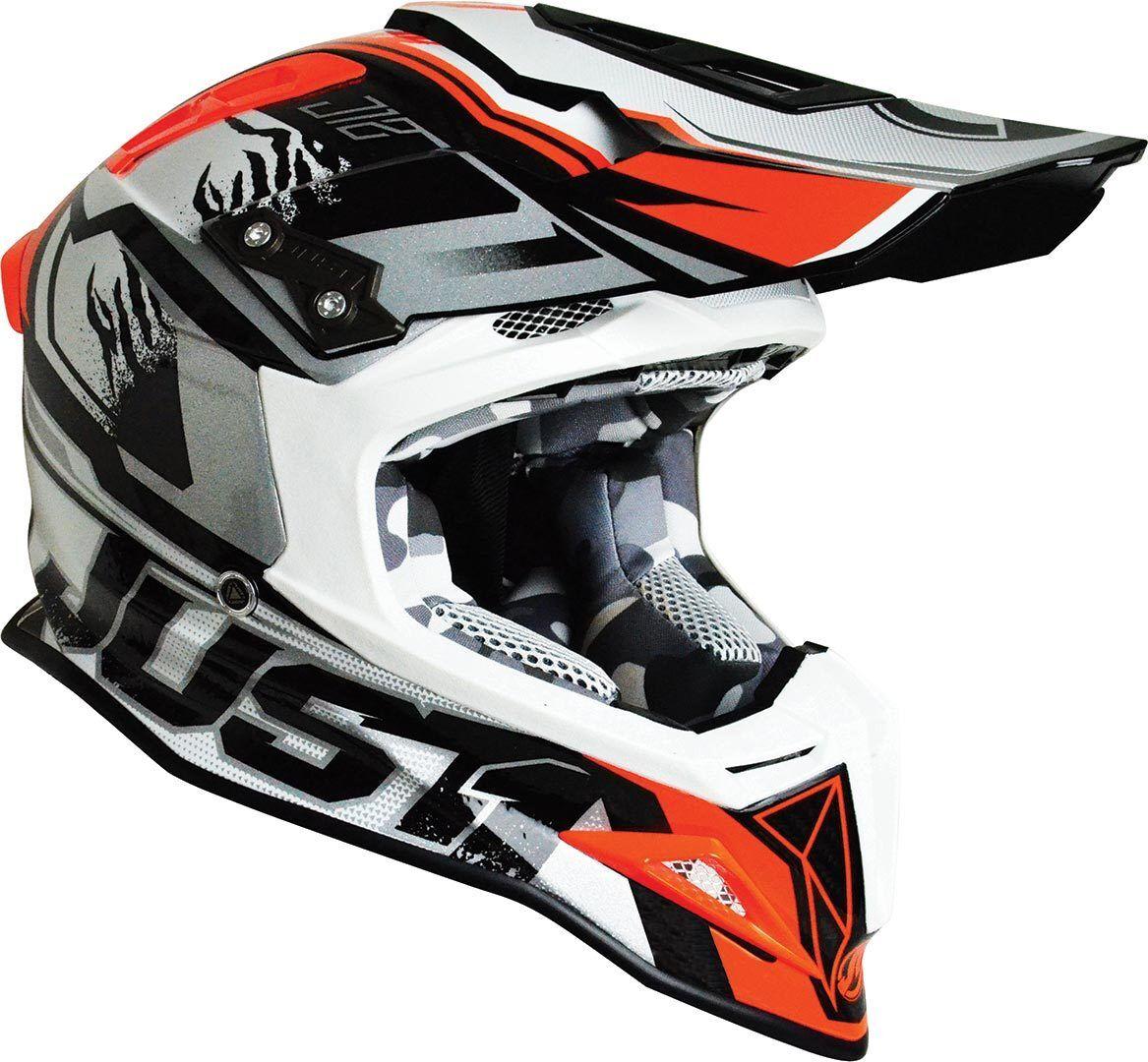 Just1 J12 Dominator Motocross Helmet White Red XS