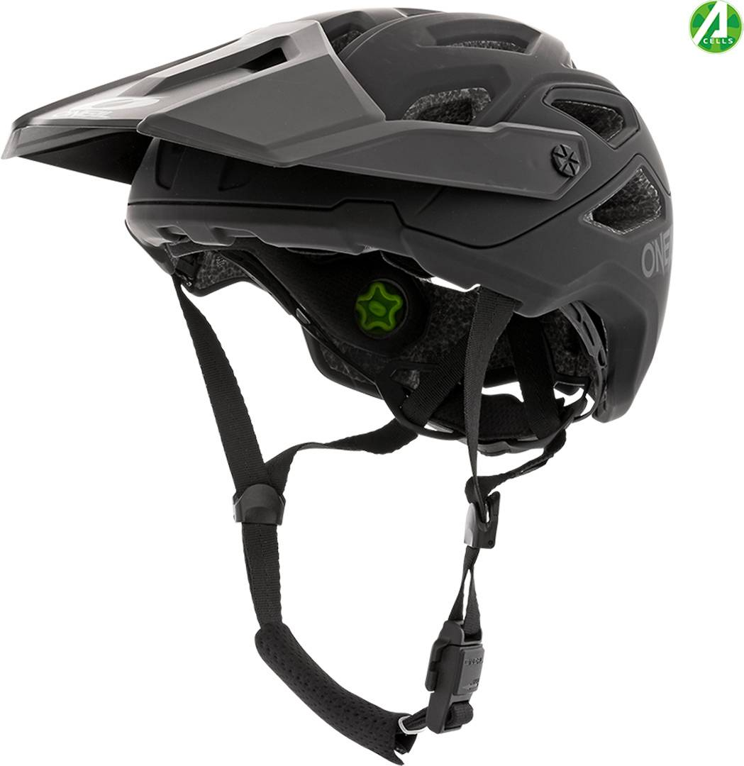 Oneal Pike Solid IPX Bicycle Helmet Black Grey M L