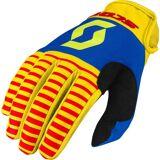Scott 350 Track Motocross Gloves 2017  - Red Yellow - Size: L