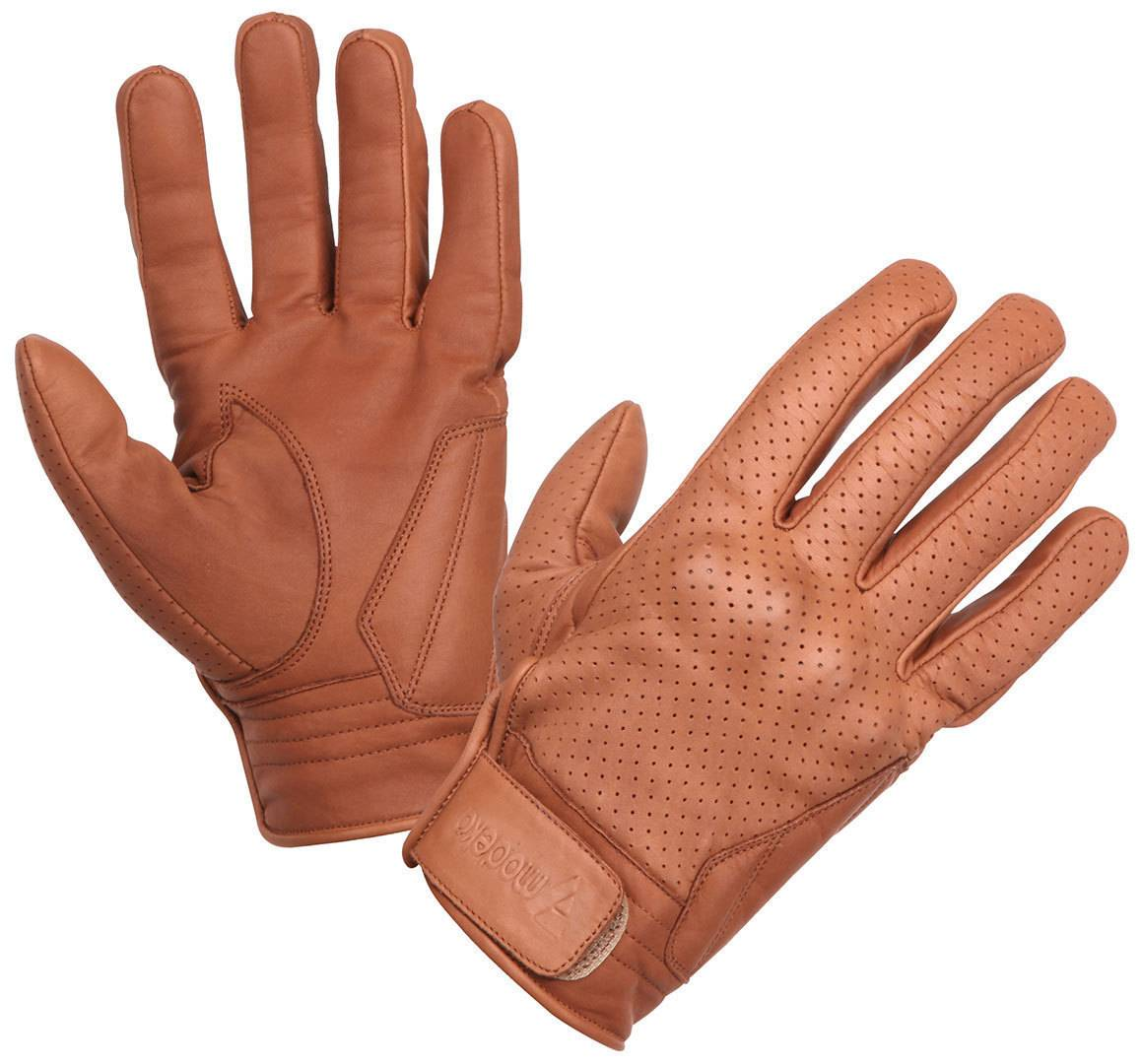 Modeka Hot Classic Motorcycle Gloves Brown 2XL