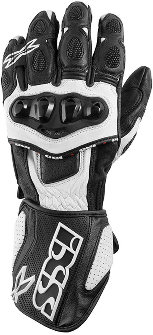 IXS RS-300 Motorcycle Gloves Black White XS