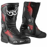 Berik Shaft 3.0 Motorcycle Boots  - Black Red - Size: 41