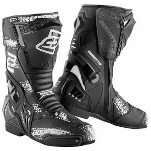 Bogotto Assen Evo Motorcycle Boots unisex Black Red Size: 48