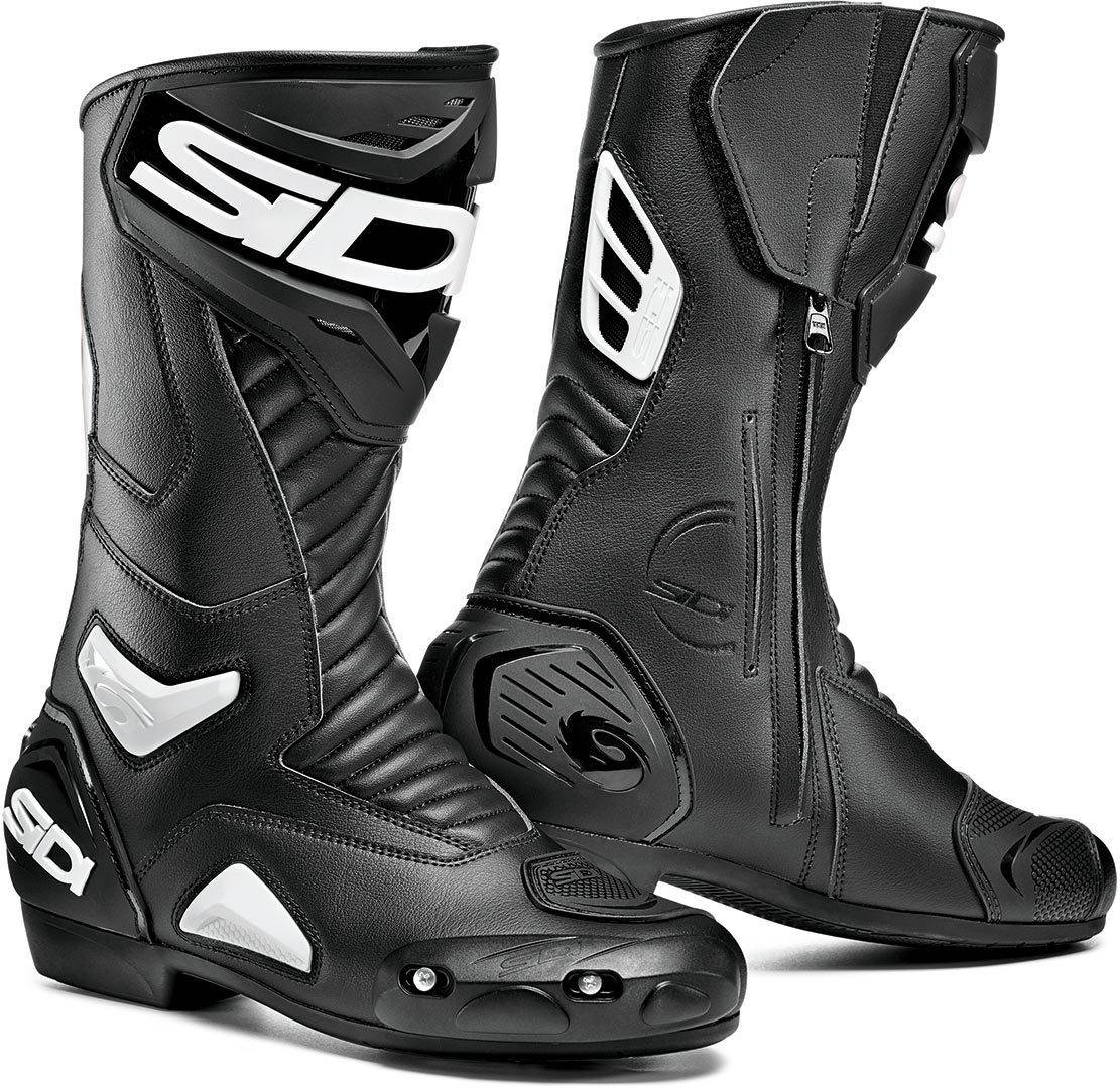 Sidi Performer Motorcycle Boots Black White 46