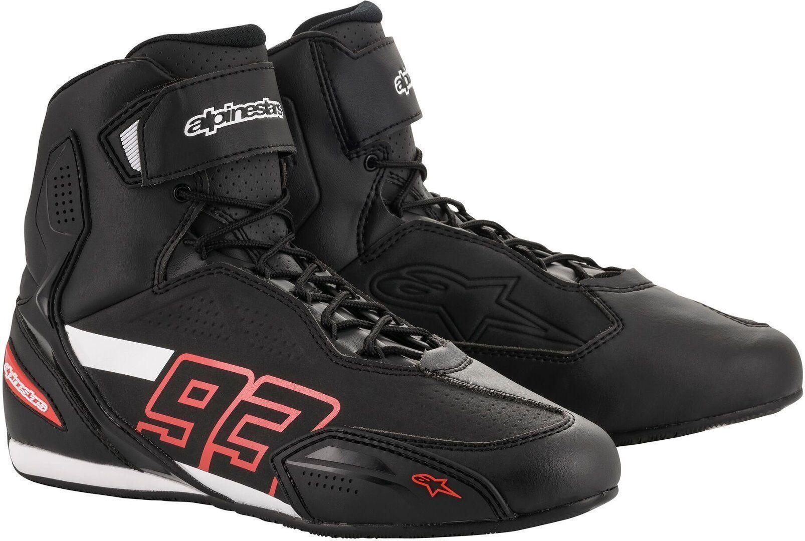 Alpinestars MM93 Austin Motorcycle Shoes Black Red 47