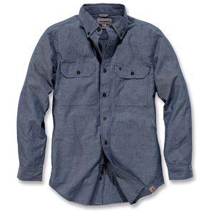 Carhartt Fort Solid Long Sleeve Shirt  - Blue - Size: L