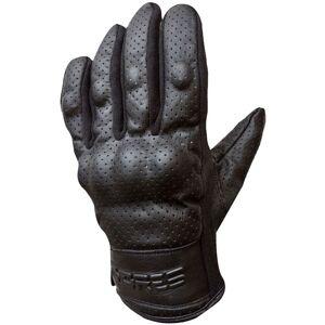 Bores Black Love Leather Gloves  - Black - Size: XL
