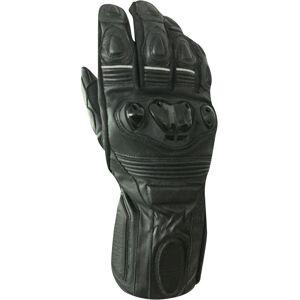 Bores Rider Leather Gloves unisex Black Size: XL