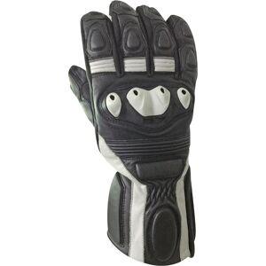 Bores Rider Leather Gloves  - Black White - Size: L