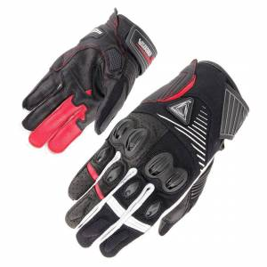 Orina Space Motorcycle Gloves  - Black White Red - Size: S M