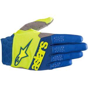Alpinestars Racefend MX Textile Gloves  - Blue Yellow - Size: 2XL