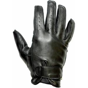 Helstons Hiro Summer Motorcycle Gloves  - Black - Size: XL