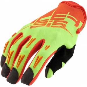 Acerbis MX-X2 2017 Motocross Gloves Yellow Orange M