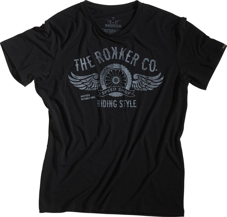 Rokker Performance Riding Style T-Shirt Black S