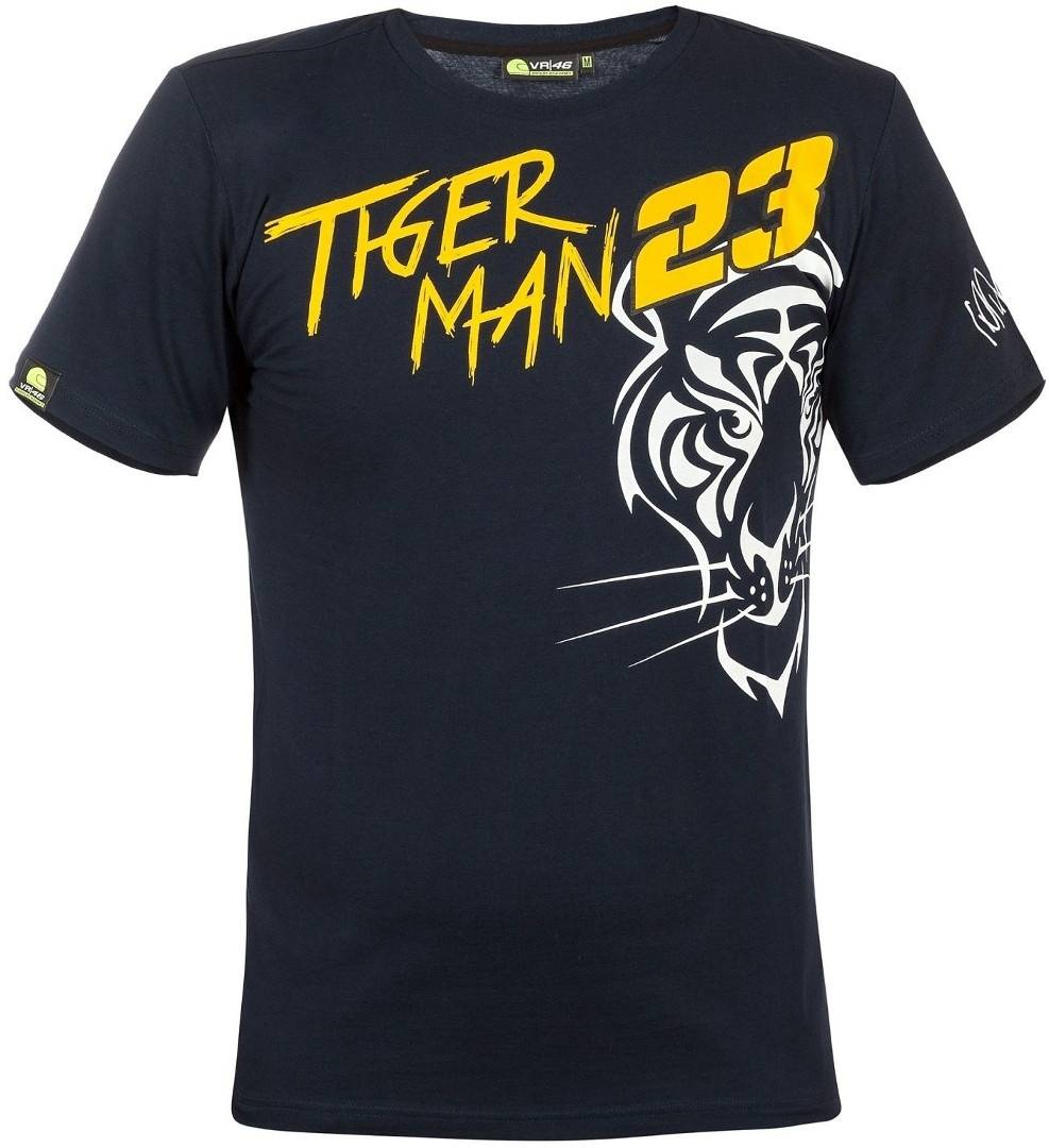 VR46 23 Tiger Man T-Shirt Black Orange 2XL